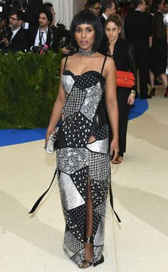 Kerry Washington from Met Gala 2017: Best Dressed Stars  This multi-pattern gown is mix and matched to perfection.