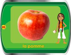Learn about fruit in French.  Several slides with audio.
