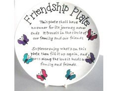 Personalised Friendship plate giving sharing by SazelGifts on Etsy