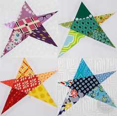 During Quiet Time Free Block Pattern Confetti Stars is perfect for stash busting!