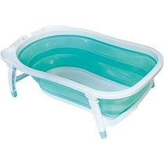 #Baignoire en plastique semi-rigide qui se plie très facilement. Ultra compacte une fois pliée. Elle peut s'utiliser aussi bien à la maison qu'en voyage. #baignoirepliable #baignoiredevoyage #babysun #baignoirebabysun