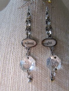 Silent Night Crystal Earrings by ThisTimeNextTuesday on #Etsy, 32.00