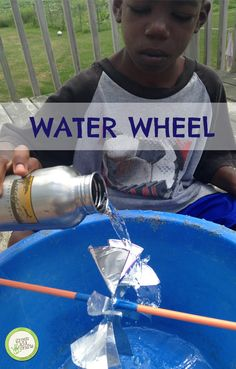 Create energy from water by making your own water wheel…