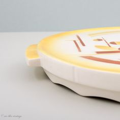kuchenplatte vintage : ... Bavaria, Germany - Handmade - Matte Porcelain - Geometric - Vintage