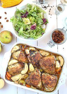 Szybki kurczak pieczony z jabłkami i warzywami- etap 5