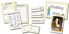 Printables for vet dramatic play