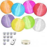 Candlebagplaza nylon lampionnen met verlichting: Nylon lampionnen met…