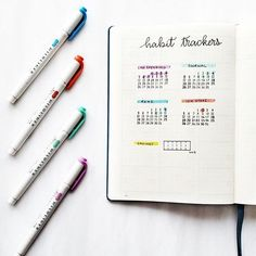 Easy Bullet Journal Ideas To Well Organize & Accelerate Your Ambitious Goals Making A Bullet Journal, Bullet Journal Layout, Bullet Journal Inspiration, Bullet Journal Minimalist, Get Back, Layout Inspiration, Hand Lettering, Journals, Stationery