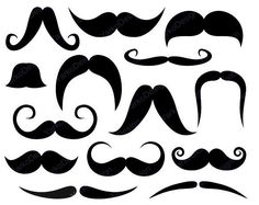Mustache Clip Art, Photo Booth Printabl Props         April 29, 2014 at 09:20PM
