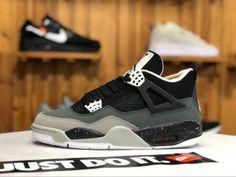 d47ee96c3ee988 Air Jordan 4 Fear Pack AJ4 Oreo Black Cool Grey Suede white 626969-030