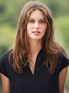 Marine Vacth poses during the 'Belles Familles' photocall as part of the 8th Angouleme French-Speaking Film Festival on August 25, 2015 in Angouleme, France.