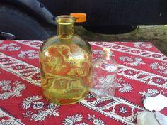 Yellow glass bottle 10.