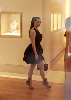 Dress. Shoes. Kim.