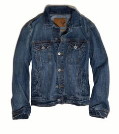 American Eagle Outfitters | Denim Jacket ($79.95) #Coveted #DenimJacket #AEO