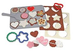 Melissa and Doug Felt Food - Cookie Decorating Set Play Food Set, Felt Play Food, Play Kitchen Accessories, Baking Items, Baking Set, Baking Utensils, Textiles, Childrens Gifts, Creative Play