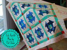chubby churn dash small quilt