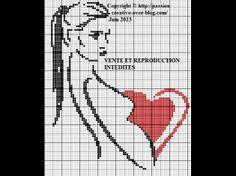 femme - woman - enceinte - point de croix - cross stitch - Blog : http://broderiemimie44.canalblog.com/