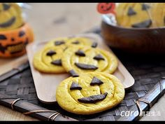 萬聖節南瓜餅乾。Halloween pumpkin cookies