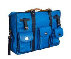 OCEAN: Bag, Limited Collection, Blue, Ostrich Skin, Handmade Product, Made in Italy, limited edition, luxury, real leather, Borsa, edizione limitata,Blu, pelle di struzzo, vera pelle, lusso, prodotto artigianale, italia. Size can vary: 44cm x 34cm