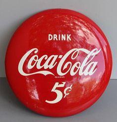 1950s Coca Cola Button Sign