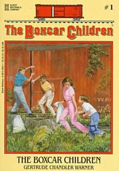 The Boxcar Children. I read like all of these! I totally wanted my own boxcar to live in haha