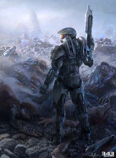 26 Terrific Pieces of Halo 4 Concept & Promotional Art I think halo is a pretty cool guy, he kill aliens and doesn't afraid of anything Halo Master Chief, Master Chief And Cortana, Halo Game, Halo 3, Anime Expo, Star Lord, Video Game Art, Video Games, Fan Art