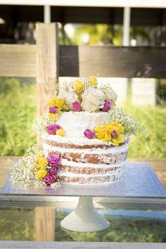 Naked Cake | Rustic Country Chic Wedding | Miami Photographer | Liz Dikinson Photography