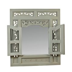 Ruji Mirror, Slate Blue