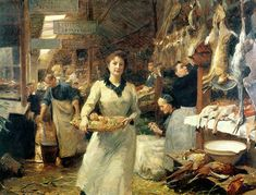 Victor Gabriel Gilbert (French, 1847-1933) ~ The Market Place.