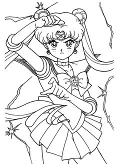 Sailor Moon Manga Venus Mars Pluto Neptune Jupiter Coloring Pages Cool For