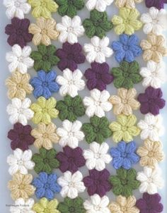 """crochet scarf- pattern for the little """"mollie flowers"""" here:"""