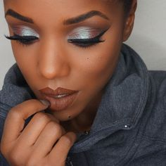 """Instagram: @ ellarie   """"Insomnia on the lid and Bitten under eye/in crease by @makeupgeekcosmetics. Cappuccino under brow, Vino in outer v/under eye, LBD liner all by @motivescosmetics. Noir fairy @houseoflashes. Salem velvetine @limecrimemakeup."""""""