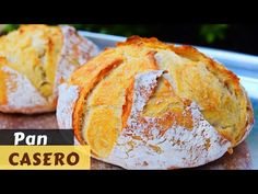 Pan casero con corteza crujiente Youtube, Breads, Pancakes, Channel, Food, Bagels, Tasty Food Recipes, Cooking Recipes, Deserts