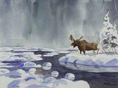 Vermilion Bay Art Gallery Moose Art, Art Gallery, Artist, Painting, Animals, Animales, Art Museum, Fine Art Gallery, Animaux