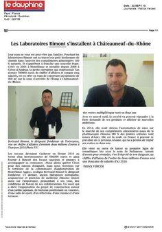 Les Laboratoires Bimont dans le Dauphiné LIbéré