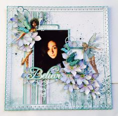 Layout for the Merly Impressions November Crop - using Kaisercraft Fairy Dust collection.