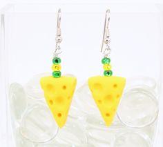Green Bay Packers Cheese Wedge Earrings Super Bowl.