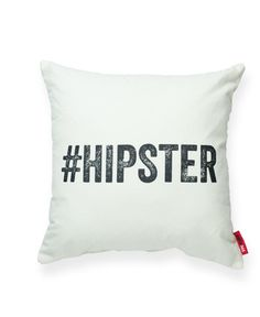 "- Add some personality in your room with this ""Hipster"" throw pillow/cushion. Great as housewarming birthday, Valentine's, or ""just because"" gift. - Color: Brown, Cream, Gray, Red, Blue. - Material: B"