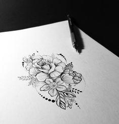 Tattoo assembled piece by client Pollyana Dantas. www. Piercing Tattoo, Arm Tattoo, Cover Tattoo, Sleeve Tattoos, Piercings, Girly Tattoos, Rose Tattoos, Flower Tattoos, Body Art Tattoos