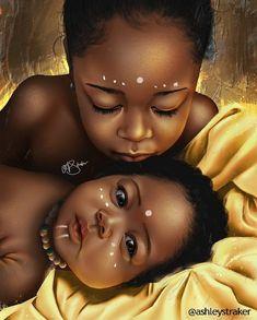 Black Art Family African Americans 63 New Ideas Art Black Love, Black Girl Art, Black Girl Magic, Art Girl, Black Girls, Black Girl Cartoon, Art Et Design, Diy Design, Afrique Art