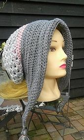 Ribbed Bonnet with Tassels  Royal yarn is suitetable for hook size 4-5mm (Dutch)