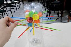 Dollar Store Crafter: Turn Empty Soda Pop Bottles And Their Caps Into A . Recycled Toys, Recycled Bottles, Recycled Materials, Games For Kids, Diy For Kids, Activities For Kids, Crafts For Kids, Pop Bottles, Plastic Bottles
