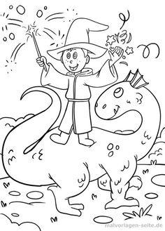schablonen/ausmalen-zauberer | zauberer, ausmalen und