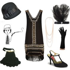 A fashion look from June 2012 featuring gatsby dress, black high heel shoes and crochet bags. Browse and shop related looks.