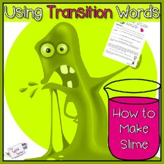 Transition words lesson how to make slime pinterest slime word transition words lesson how to make slime pinterest slime word poster and science fun ccuart Image collections