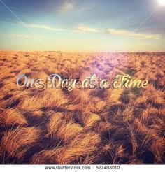 Inspirational Quote One Day Time Bright : photo de stock (modifier maintenant) 527403010 Blue Sky Clouds, Illustrations, Grass, Images, Inspirational Quotes, Stock Photos, Sunset, Landscape, Day