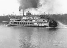 Stern-Wheel Steamboat Belle of Calhoun 1906 BW by Padre Art Steam Boats, Boat Insurance, Old Boats, Beyond The Sea, Paddle Boat, Canal Boat, Boat Rental, Lake George, Boat Tours