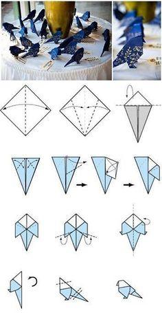 DIY Paper Bird Decor DIY Projects | UsefulDIY.com Follow Us on Facebook ==> http://www.facebook.com/UsefulDiy