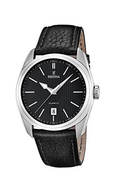 Festina Herren-Armbanduhr XL Analog Quarz Leder F16777 4 Festina Uhren 66185d908f7