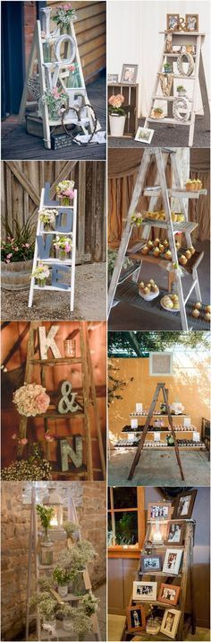 Country Weddings » 22 Rustic Country Wedding Decoration Ideas with Ladders » ❤️ More: http://www.weddinginclude.com/2017/06/rustic-country-wedding-decoration-ideas-with-ladders/ #RusticCountryWeddings
